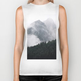 Foggy Mountain Forest Biker Tank