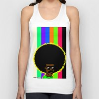 afro Tank Tops featuring AFRO by watsonpablov