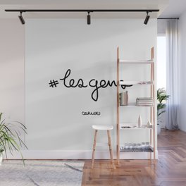 #lesgens - Black Wall Mural