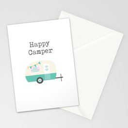 Happy Camper White Stationery Cards