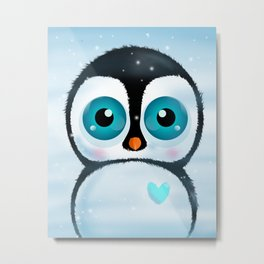 Joc the Penguin Metal Print
