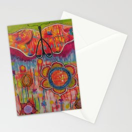 """With these wings I can Fly"" Original painting by Toni Becker, Artfully Healing Stationery Cards"