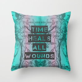 Time Heals Throw Pillow