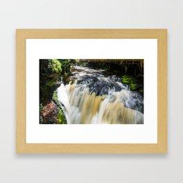 Blurred Lower Gorge Falls Framed Art Print