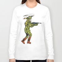 spaceship Long Sleeve T-shirts featuring SPACESHIP TROOPER by Noughton