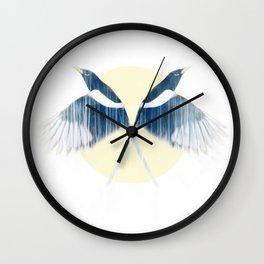 Magpies Wall Clock