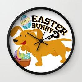 Dachshund Easter Funny For Boys Girls Love Dog Puppy Wall Clock