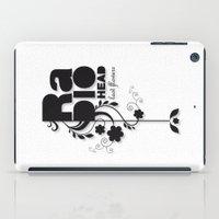 radiohead iPad Cases featuring Last flowers Song - Radiohead - black version by LilaVert