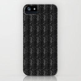 Rustic Black Brick iPhone Case