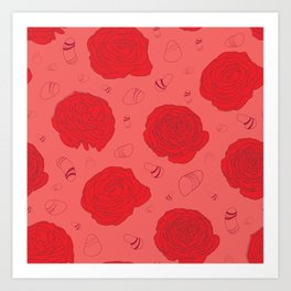 Only red Art Print