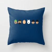 tintin Throw Pillows featuring Famous Capsules - Tintin by Greg-guillemin