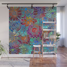 Flowery Summer Pattern Wall Mural
