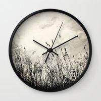 grass Wall Clocks featuring Grass by Angela Fanton