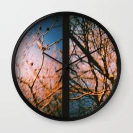 Trees Dyptich Wall Clock