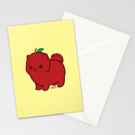 Apple Red Pom de Terrier Stationery Cards