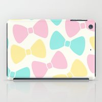 bows iPad Cases featuring Pastel Bows by XOOXOO