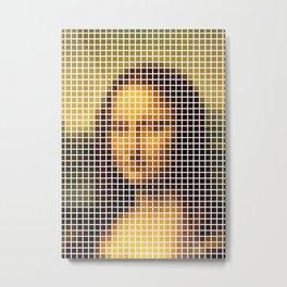 Mona Lisa Deconstructed Metal Print
