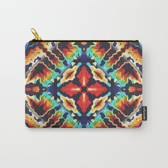 Ornate Geometric Colors Carry-All Pouch