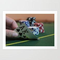 Blackjack Art Print