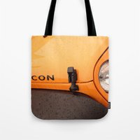 jeep Tote Bags featuring Jeep Rubicon by SShaw Photographic