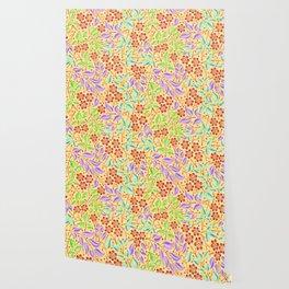 Sunshine Filigree Floral Wallpaper
