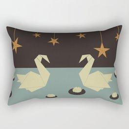 Origami swan Rectangular Pillow