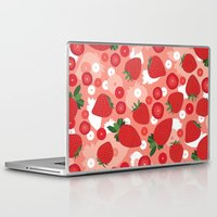 strawberry Laptop & iPad Skins featuring Strawberry by Ornaart