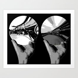 24/ Escher Street by Mike Jenner Art Print