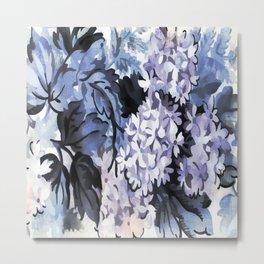 Ultra Violet Floral Metal Print
