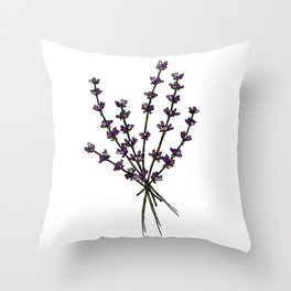 Bouquet of lavender Throw Pillow
