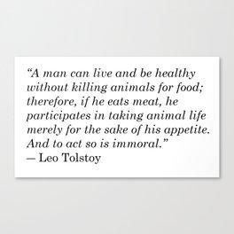 Leo Tolstoy Quote Canvas Print