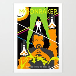 James Bond Golden Era Series :: Moonraker Art Print