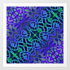 Fractal Art Stained Glass G318 Art Print