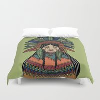 mother Duvet Covers featuring Mother by Iria Prol
