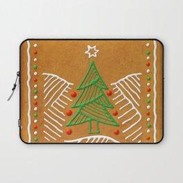 Gingerbread Christmas Tree Biscuit Laptop Sleeve
