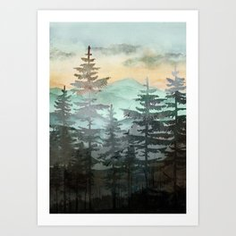 Pine Trees Art Print