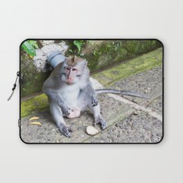 Crab-Eating Macaque I (Balinese Monkey) Laptop Sleeve