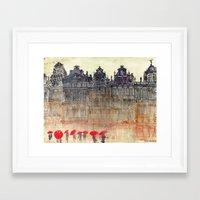brussels Framed Art Prints featuring Brussels by takmaj