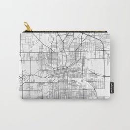 Fort Wayne Map, USA - Black and White Carry-All Pouch