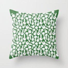 Hayao Miyazaki's Kodamas Throw Pillow