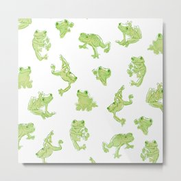 Froggy Frog large green Metal Print
