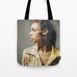FACE FLORAL Tote Bag