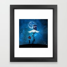 Tardis Stair banksy ballons Girl Framed Art Print