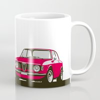 gta Mugs featuring Alfa Romeo Giulia Sprint 1600 GTA. by Graphic Deluxe