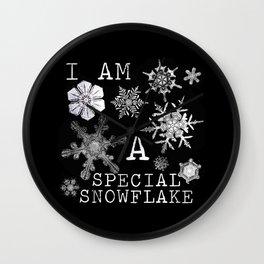 Special Snowflake Wall Clock