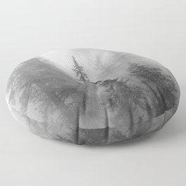 Forest In The Clouds - Nature Photography Floor Pillow