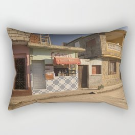 Beautiful and colourful little cafeteria in Trinidad, Cuba. Rectangular Pillow