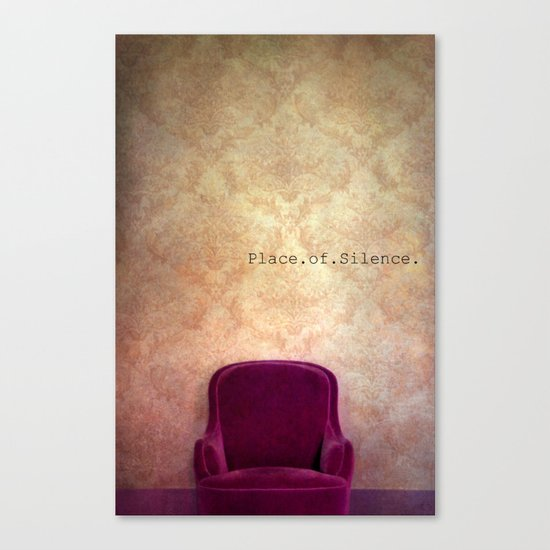 place of silence Canvas Print