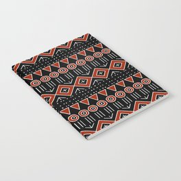 Mudcloth Style 2 in Black and Red Notebook