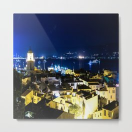 Sultry St. Tropez at Night Metal Print